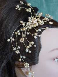 15 stem pearl haircomb view 1