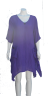 gauze dress purple