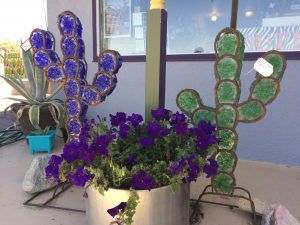 Saguaro Cactus in recycled glass